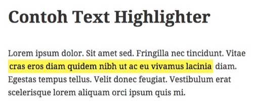 cara highlight teks dalam blog